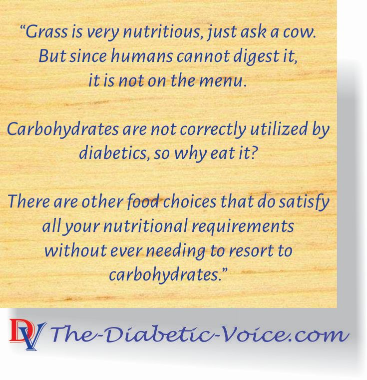Fewer carbohydrates mean less insulin needed.