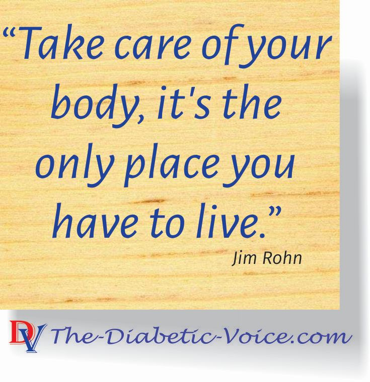 Take care of your body, it's the only place you have to live.