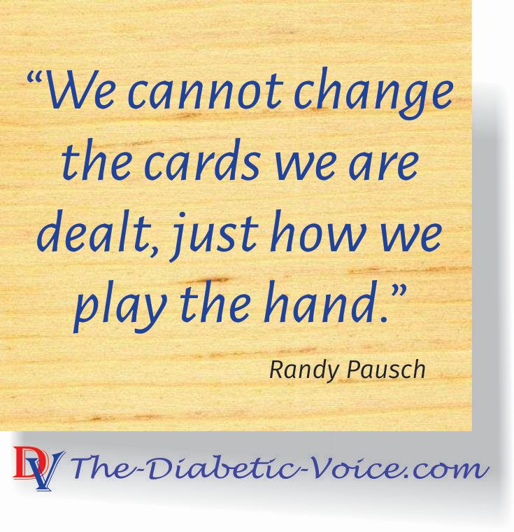 We cannot change the cards we are dealt, just how we play the hand.