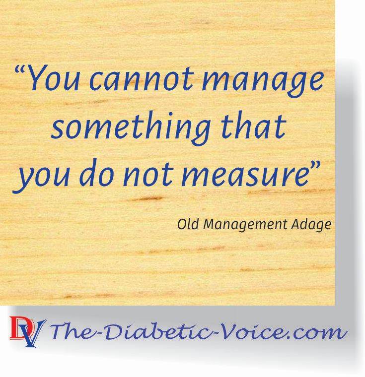 Unable to control with unknown values. You must know what you are managing #Measure #manage #diabetes